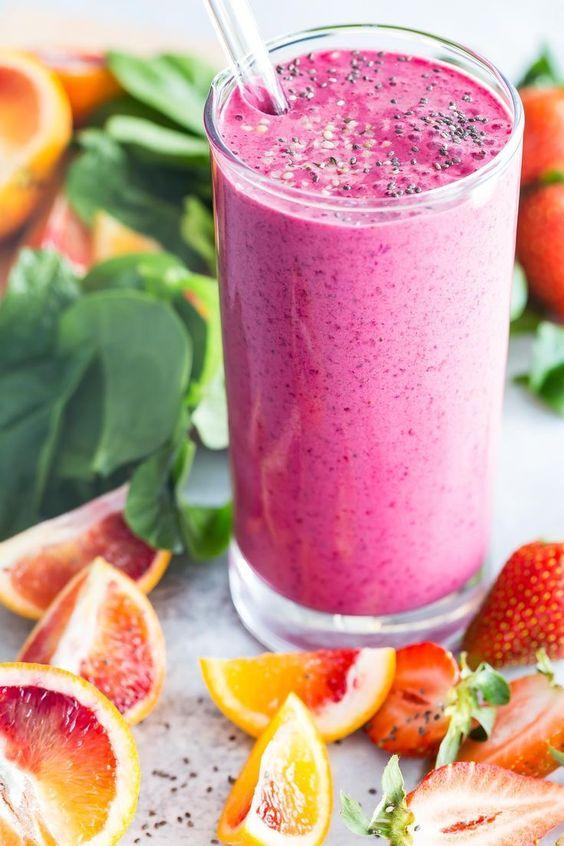 Blood Orange Strawberry Beet Smoothie healthy recipe | Girlfriend is Better