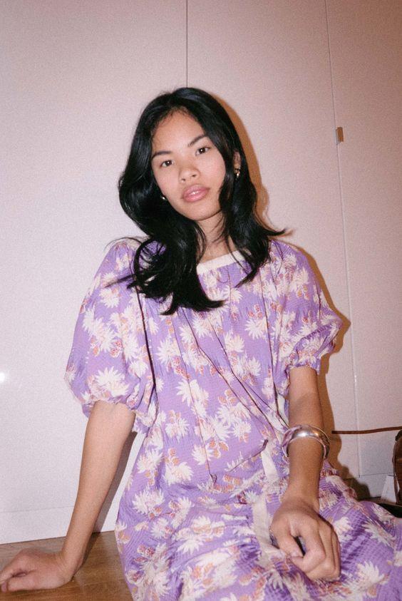 Valentine's Day fashion | Rachel Comey Delirium Dress purple floral | Girlfriend is Better