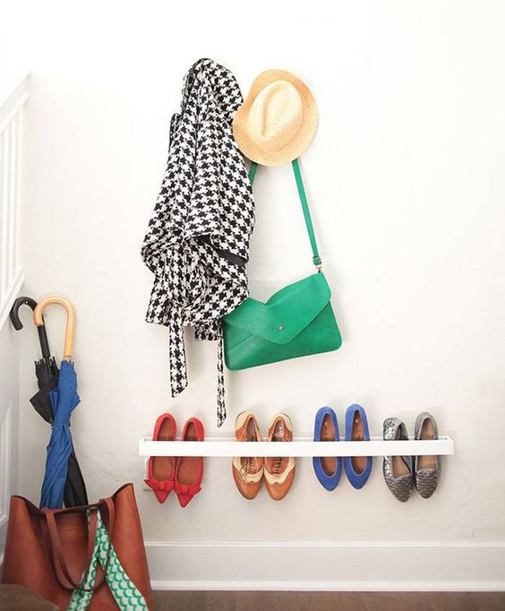 Organization ideas for shoes | Entryway | Girlfriend is Better