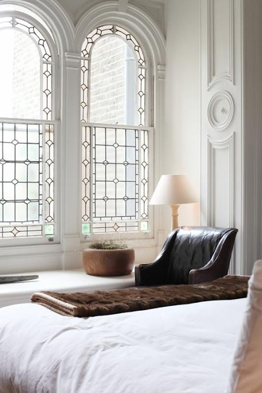 Stained glass living room window | French country bedroom | Girlfriend is Better