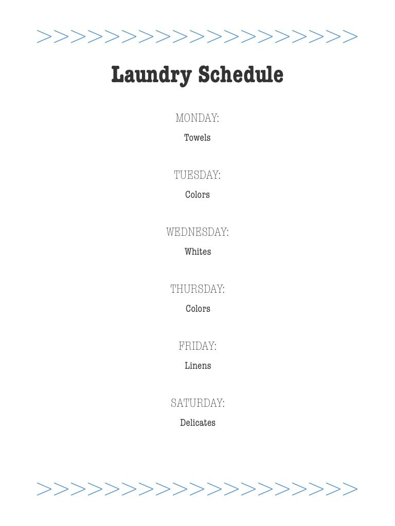 Cleaning lists tips and tricks | Weekly laundry schedule | Girlfriend is Better