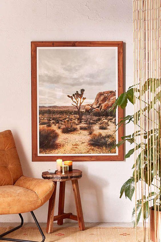 Taurus astrology home decor guide   Luke Mattson Joshua Tree Art Print   Girlfriend is Better