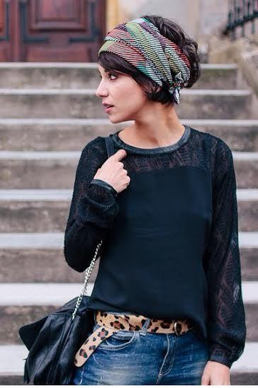 Front tie turban hair scarf | Girlfriend is Better