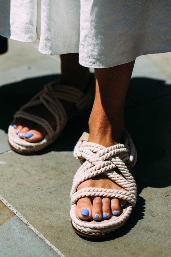 Rope espadrilles sandals | Girlfriend is Better
