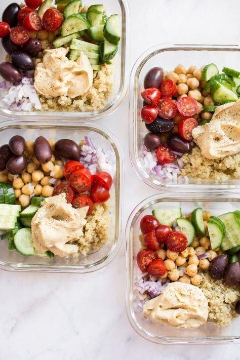 Mediterranean Vegan Meal Prep Bowls | Healthy recipes | Girlfriend is Better