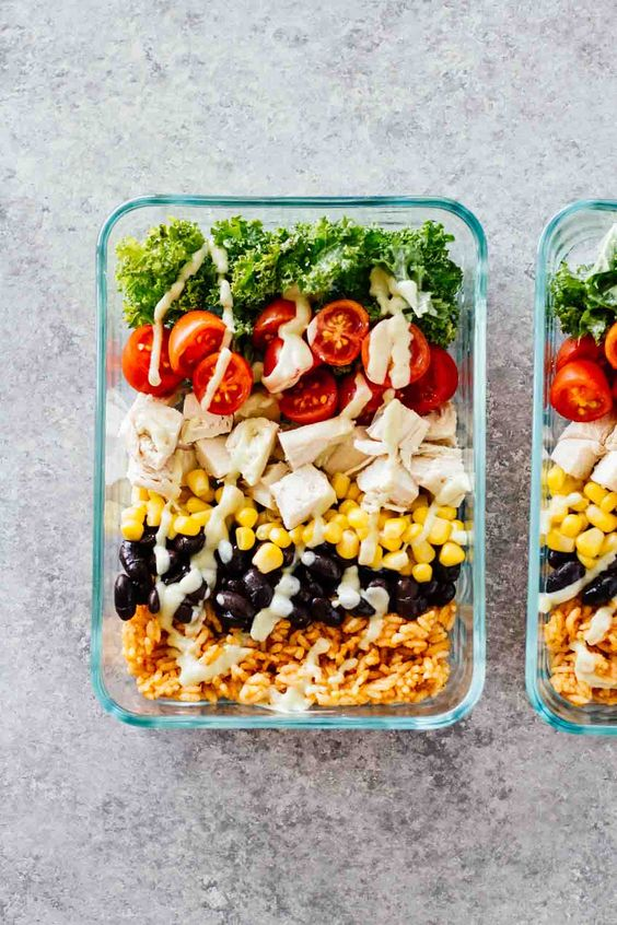 Meal Prep Southwest Chicken Burrito Bowls | Healthy recipes gluten-free | Girlfriend is Better