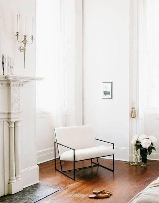Virgo astrology home decor guide | white mid-century modern chair | Girlfriend is Better