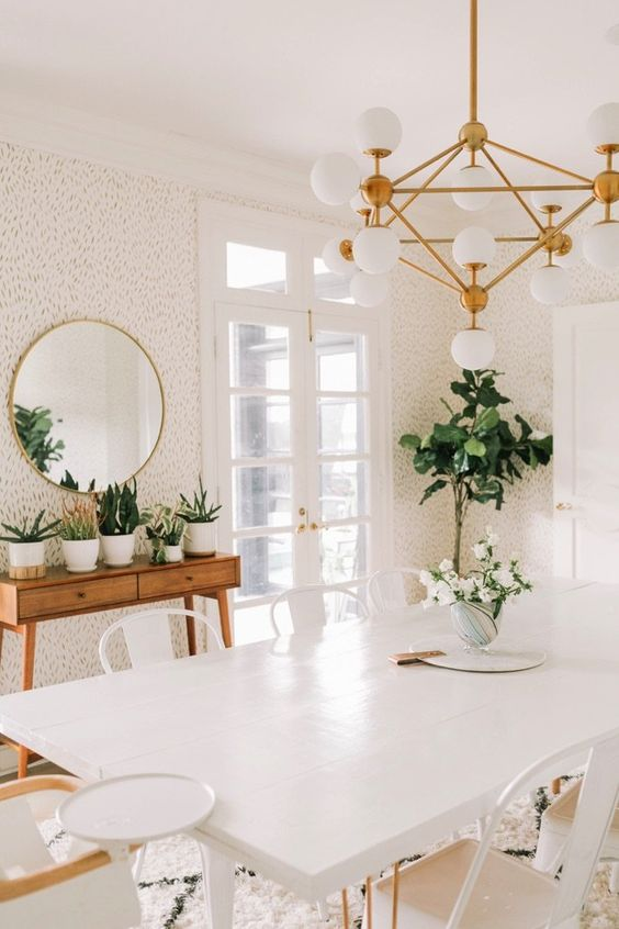Virgo astrology home decor guide | Mid-century modern dining room lighting | Girlfriend is Better