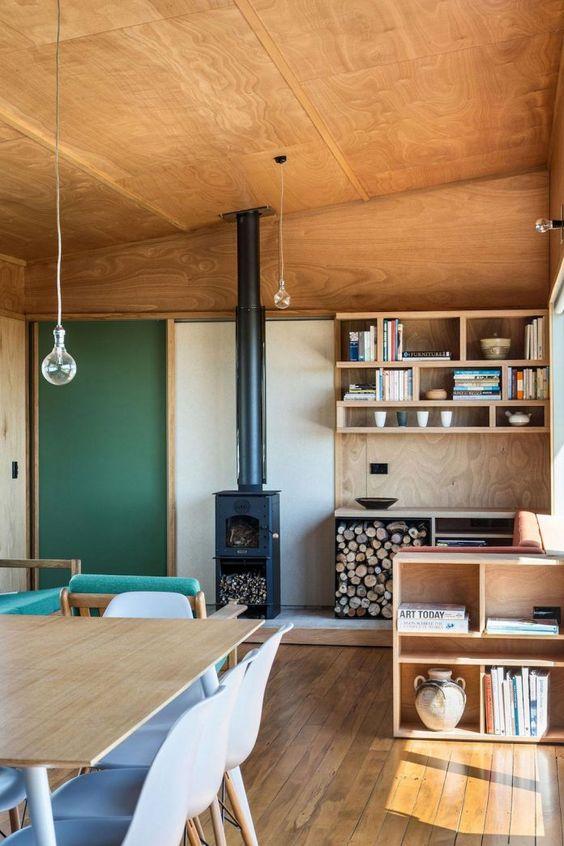wood element Feng Shui | Fireplace kitchen Hygge green wall | Girlfriend is Better