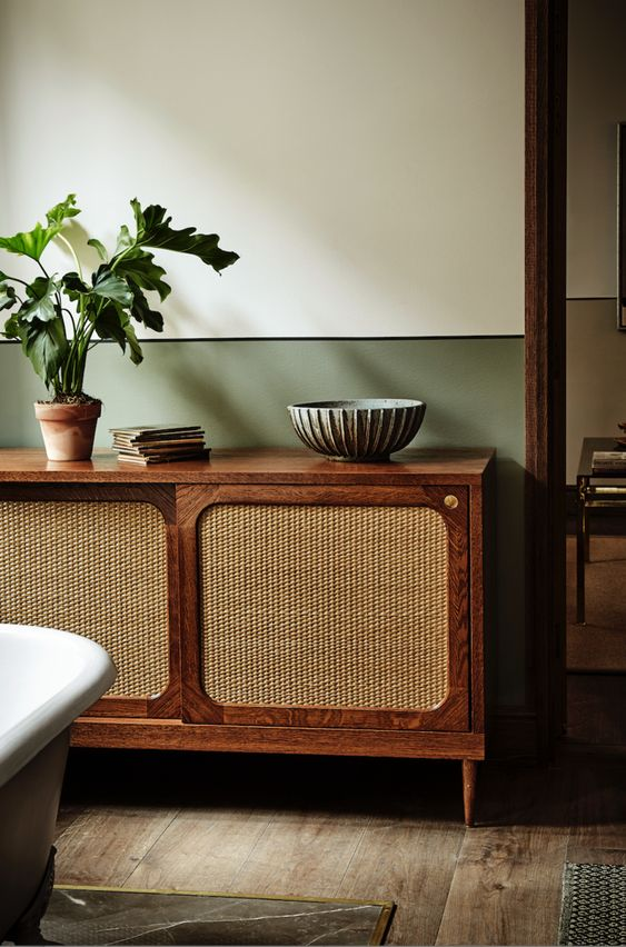 Console styling mid-century modern | Sideboard European Oak | Girlfriend is Better