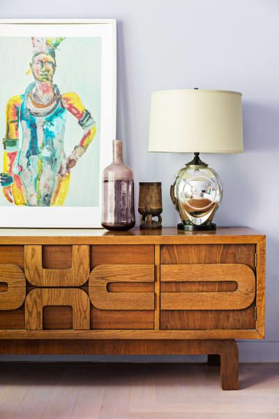 console styling mid-century modern | water element Feng Shui | Girlfriend is Better