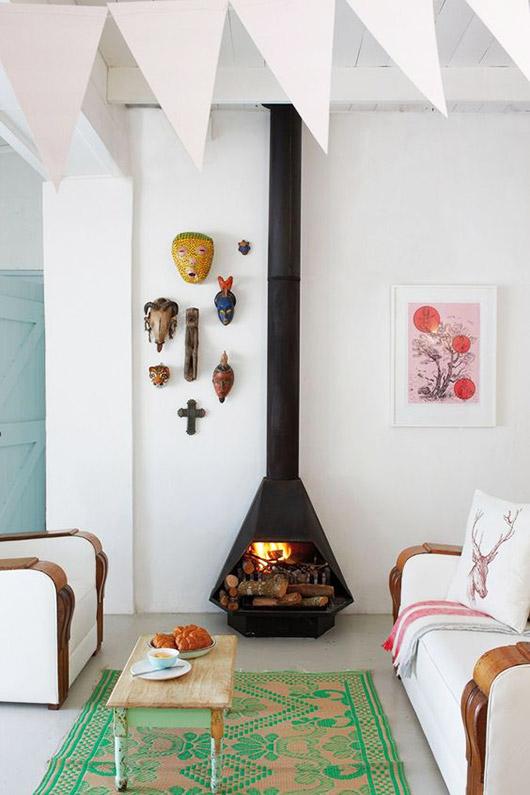 fire element Feng Shui | mid-century modern fireplace living room | Girlfriend is Better