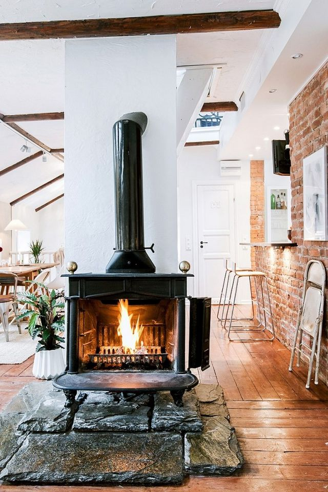 fire element Feng Shui | black iron fireplace | Girlfriend is Better