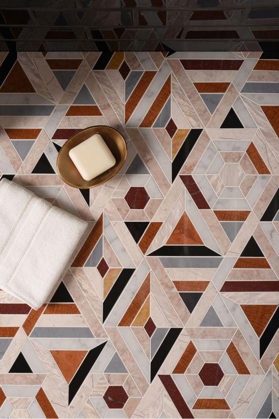 graphic tile | bathroom mosaic pattern | Girlfriend is Better