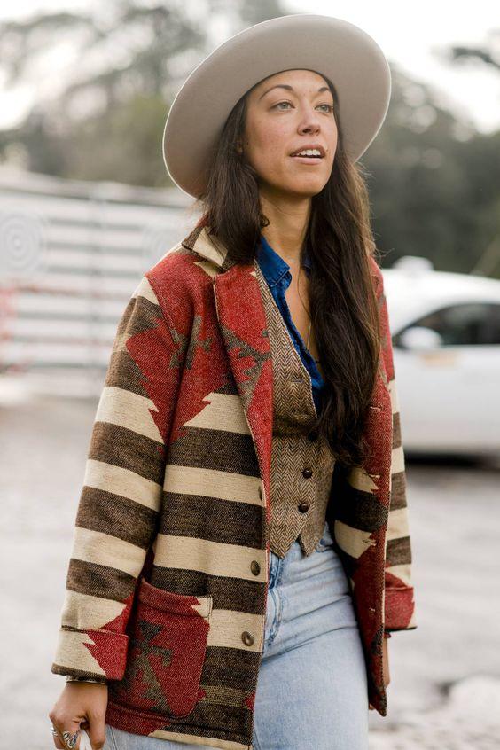 wool Southwestern jackets | Pitti Uomo midi coat | Girlfriend is Better