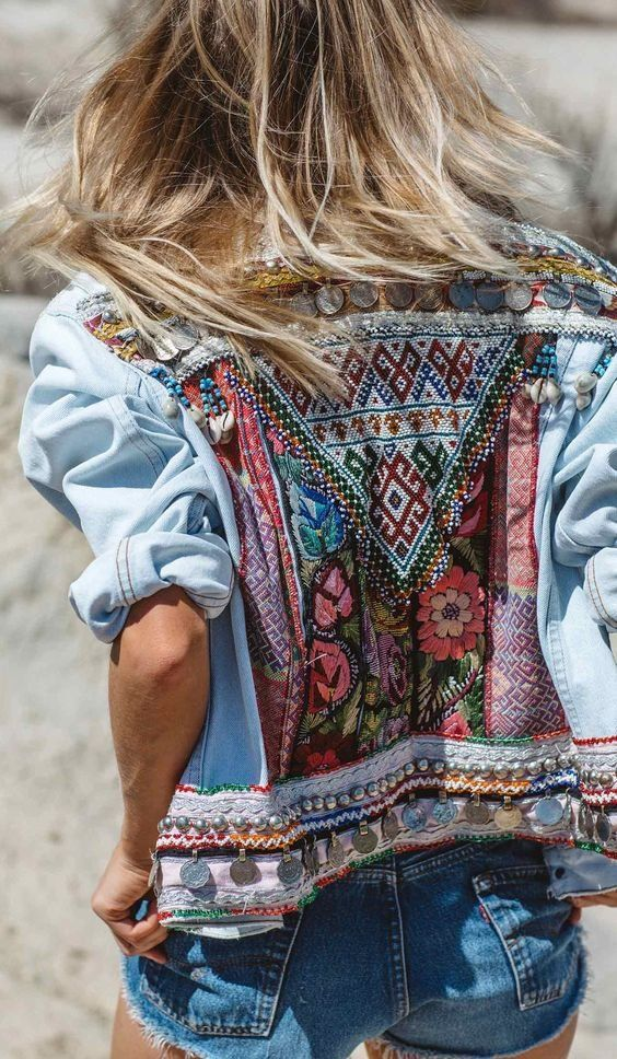 Southwestern jackets | embellished denim | Girlfriend is Better