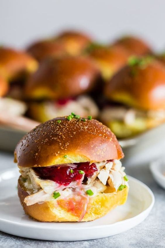 Thanksgiving leftovers recipe | Baked Cranberry Cheddar Turkey Sandwiches | Girlfriend is Better