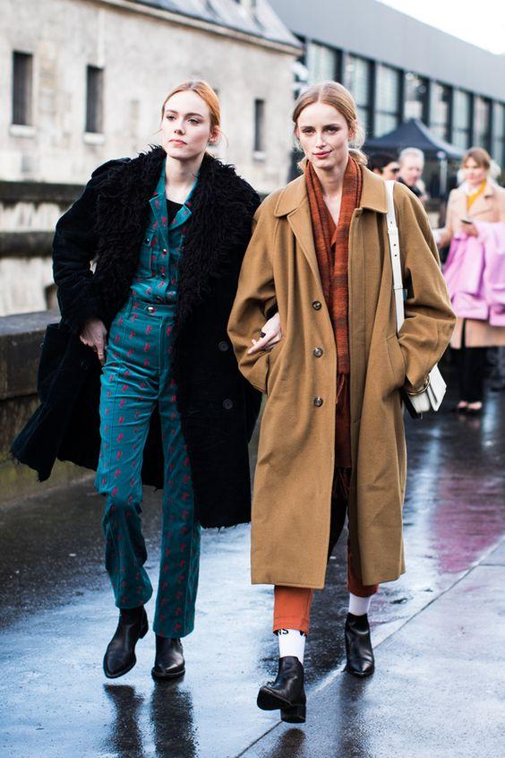 full-length coats faux fur camel wool vintage | Girlfriend is Better
