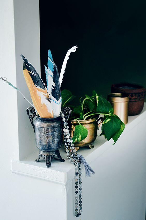 metal element Feng Shui | gold silver vintage vase planter | Girlfriend is Better