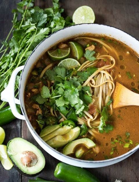 winter soup recipes | Mexican Chicken Noodle | Girlfriend is Better