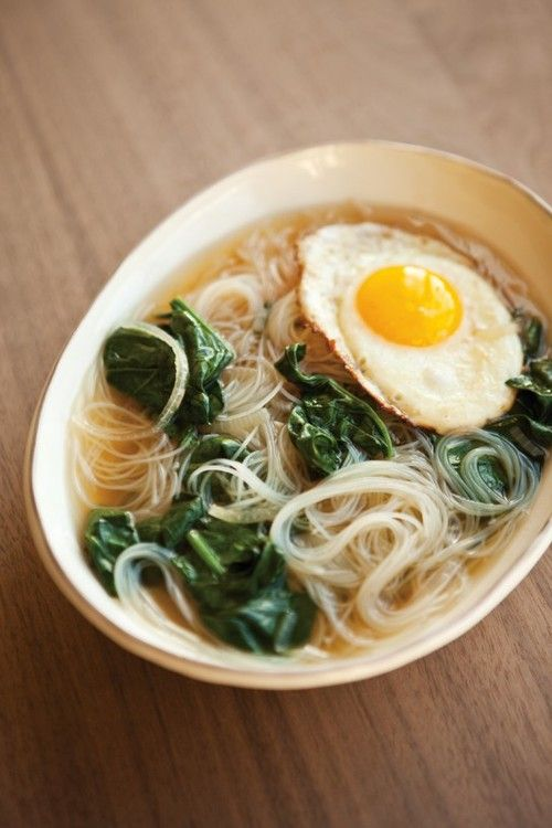 winter soup recipes noodles | Spinach Vermicelli Fried Egg | Girlfriend is Better