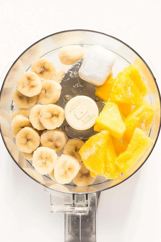 Nice Cream | frozen bananas mangos food processor | Girlfriend is Better