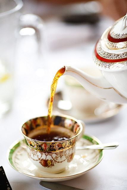 Afternoon Tea | pouring tea into intricate china cup | Girlfriend is Better