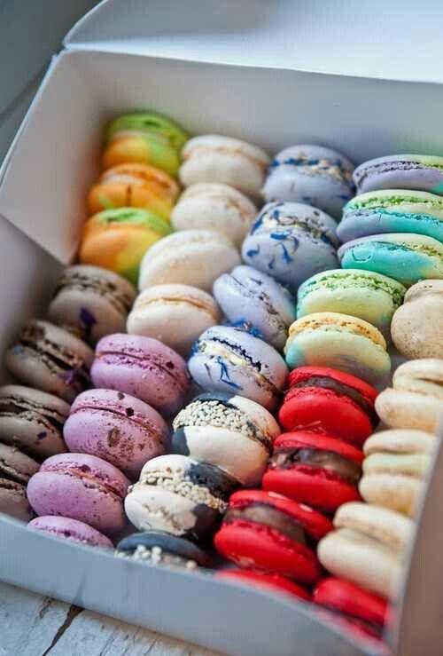 Macaron   Box of multicolored treats   Girlfriend is Better