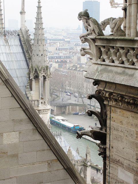 Paris Ground Zero   Gothic cathedral Notre Dame city views gargoyles   Girlfriend is Better