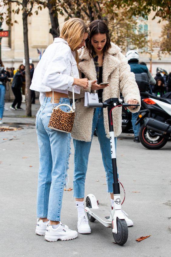 winter accessories white tennis shoes purses | Paris Fashion Week | Girlfriend is Better