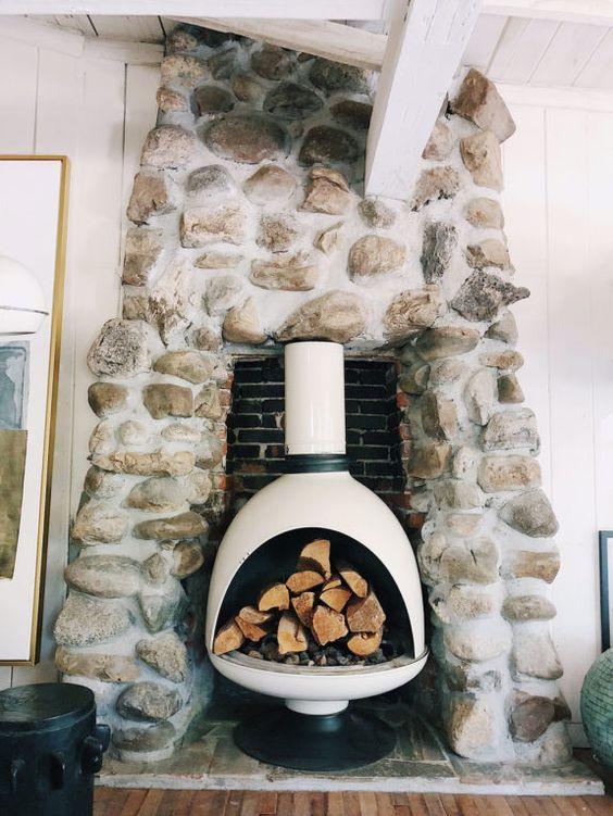 winter Hygge | fireplace mid-century modern fire element Feng Shui | Girlfriend is Better