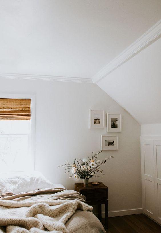 winter Hygge | cozy bedroom minimalism decor linen bedding | Girlfriend is Better