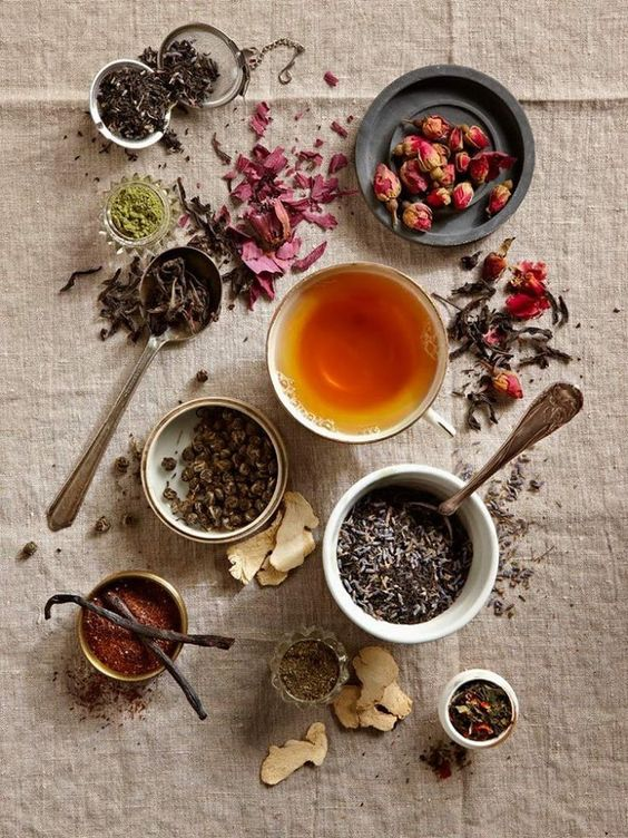 Home Tea Blends | Teacups dried herbs lavender | Girlfriend is Better