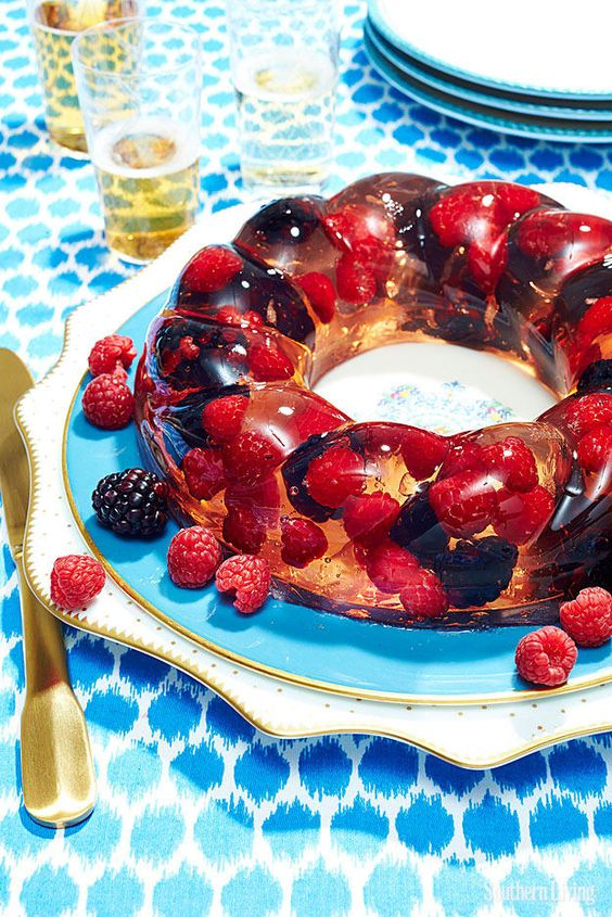 Jello Salads | strawberry raspberry bundt dessert | Girlfriend is Better