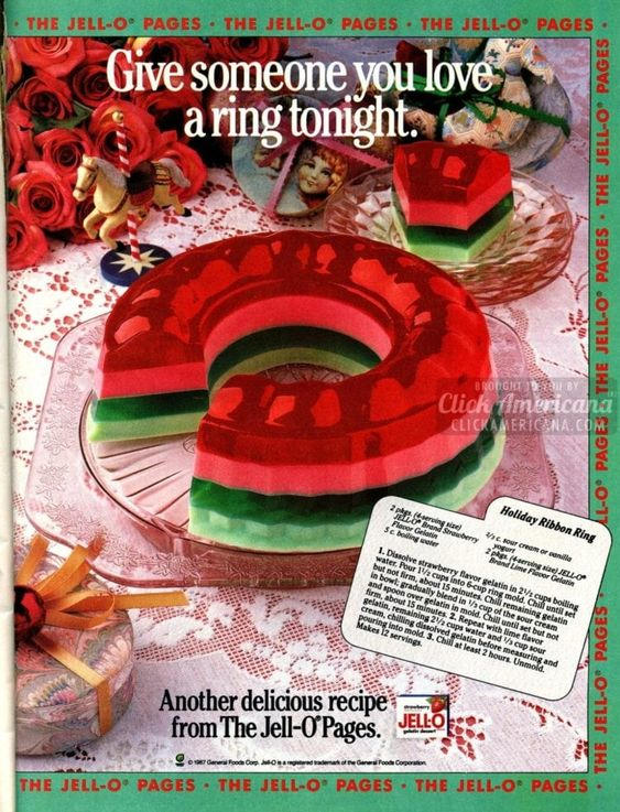 Jello Salads | Vintage layered ad | Girlfriend is Better