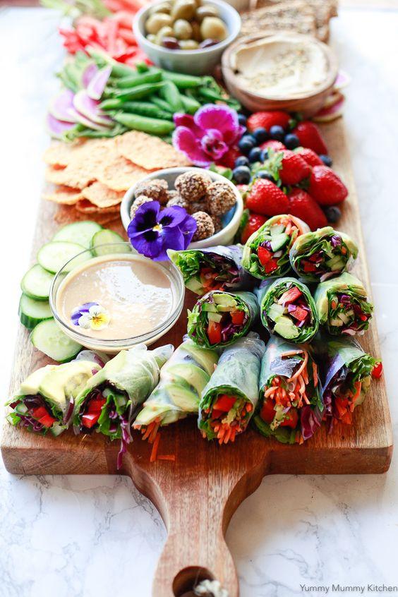 Spring Rolls   vegetarian platter   Girlfriend is Better