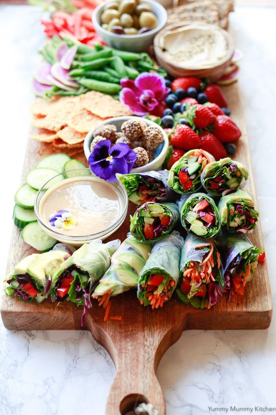 Spring Rolls | vegetarian platter | Girlfriend is Better