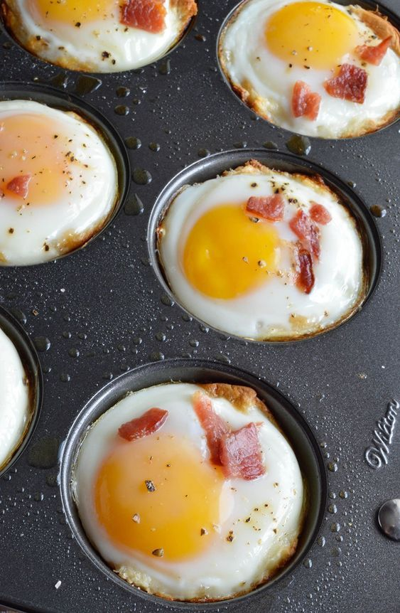 breakfast bites | sunny side up egg in muffin tin | Girlfriend is Better