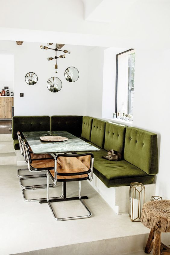 breuer chair | green and wood dining room set | Girlfriend is Better