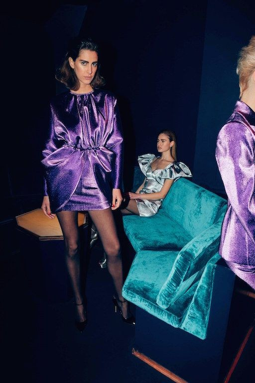 80s street chic | purple teal velvet Italian tailoring club party mini dresses | Girlfriend is Better
