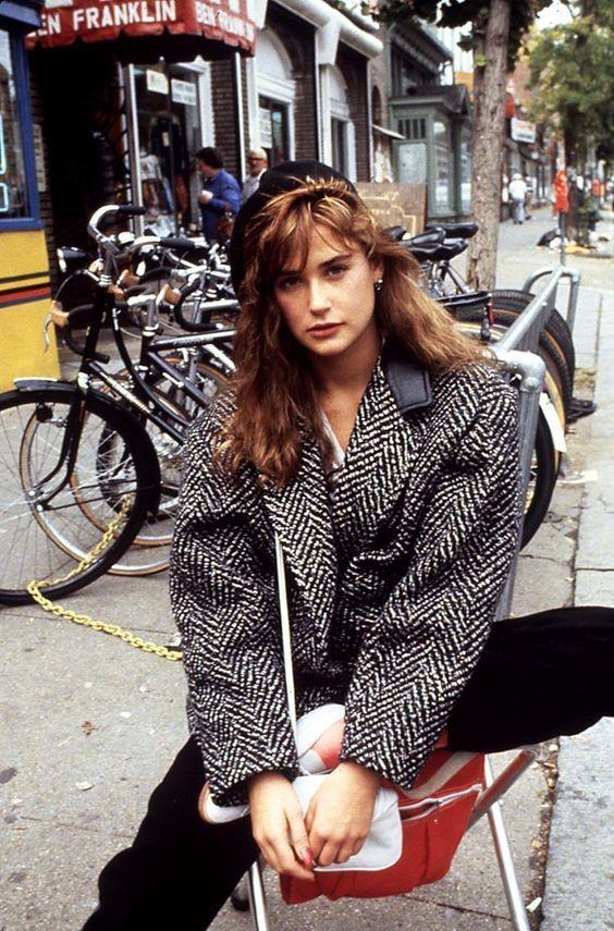 80s street chic   vintage jacket shoulder pads black wool   Girlfriend is Better