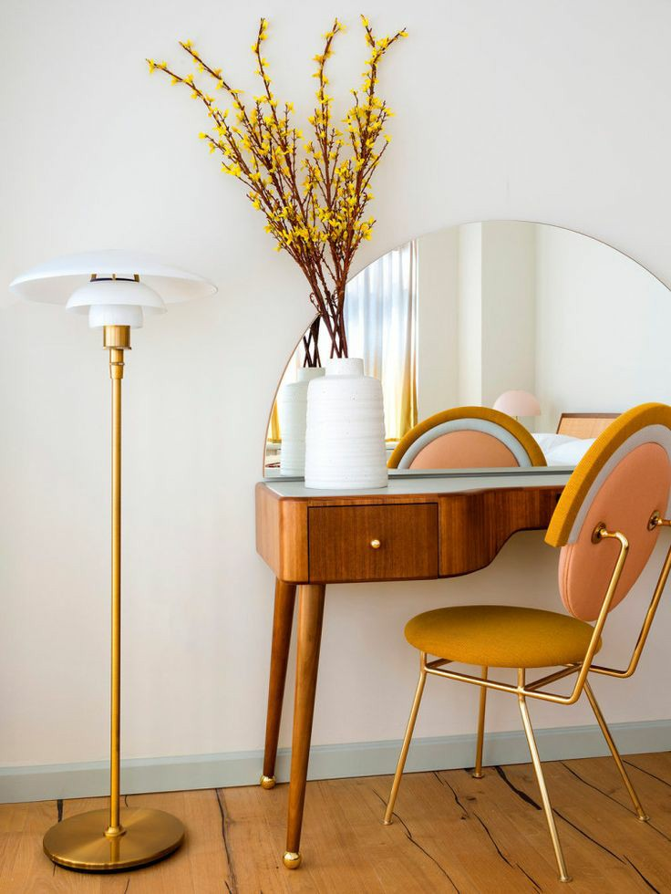 home office | mid-century modern vanity desk natural | Girlfriend is Better