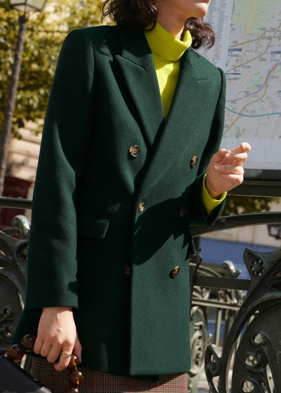 Preppy outfits | green petticoat yellow turtleneck | Girlfriend is Better