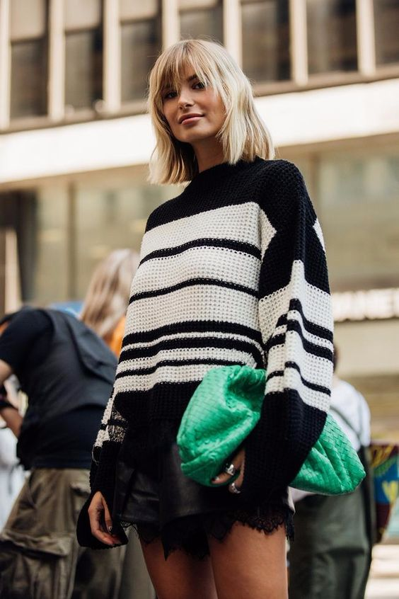 oversized clutches | green winter fashion leather | Girlfriend is Better