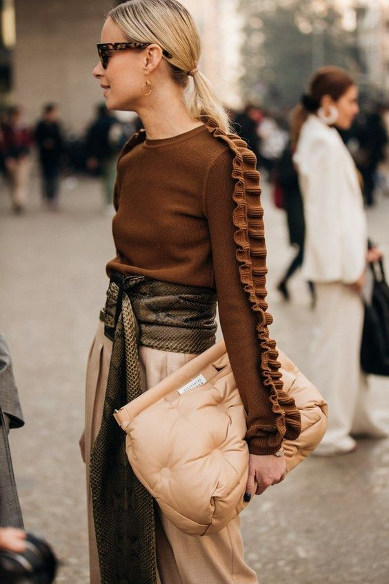 oversized clutches | quilted leather handbag leather neutrals | Girlfriend is Better