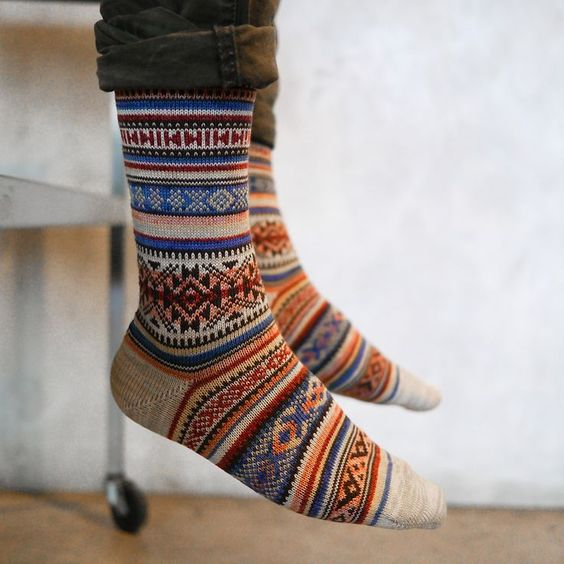 winter layers | Chupa wool socks Fair Isle knit | Girlfriend is Better