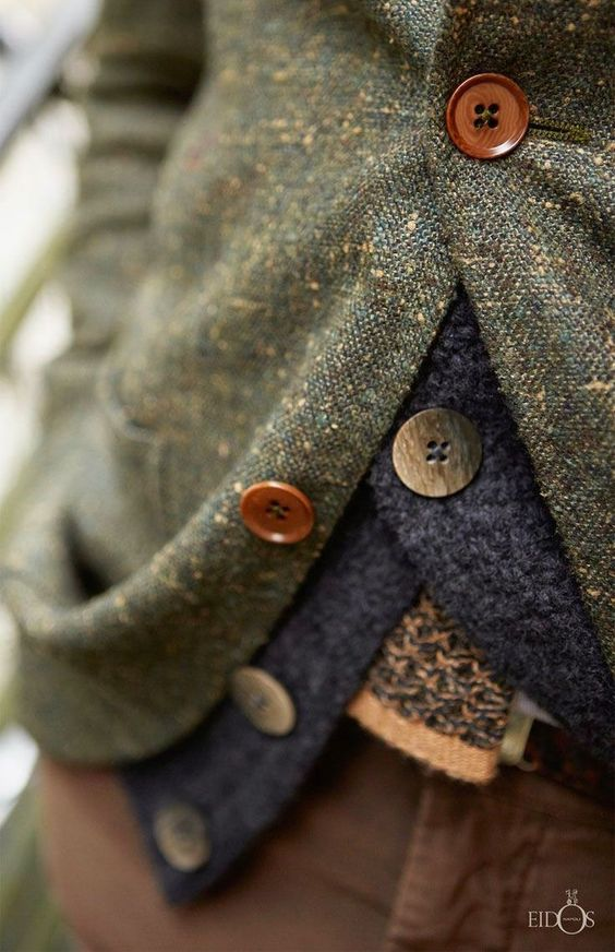 winter layers | tweed jacket wool button up sweater earth colors | Girlfriend is Better