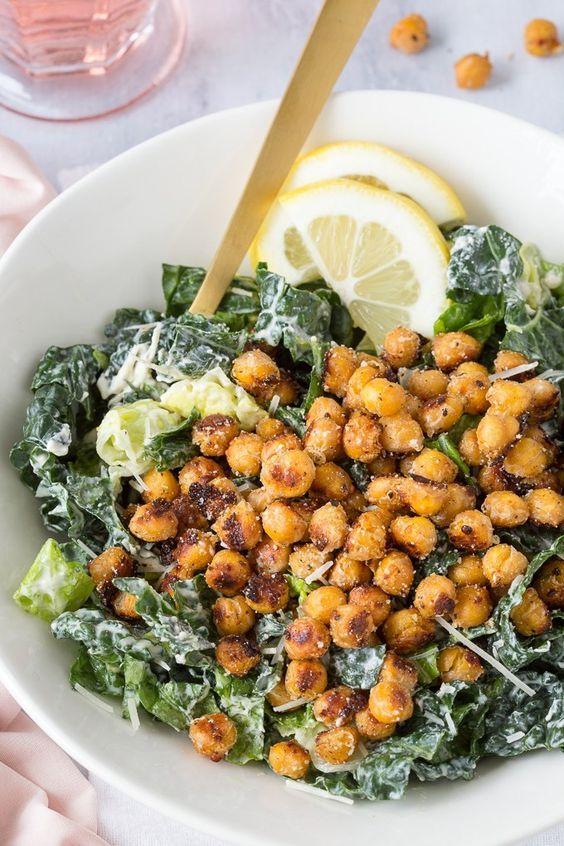 January's seasonal vegetables | Kale Caesar Salad recipes healthy vegan vegetarian | Girlfriend is Better