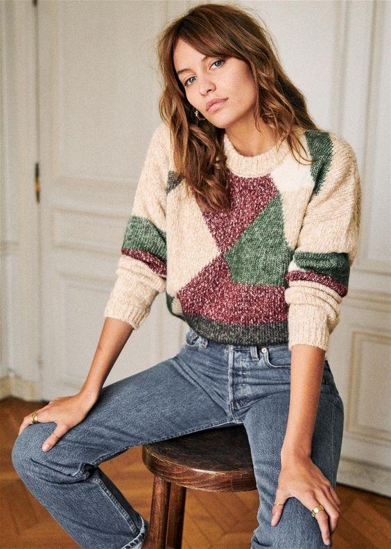mock necks   Sezane sweater winter layers cozy   Girlfriend is Better