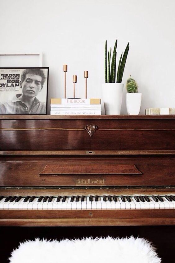 pianos | styling vintage modern music art Humanities | Girlfriend is Better